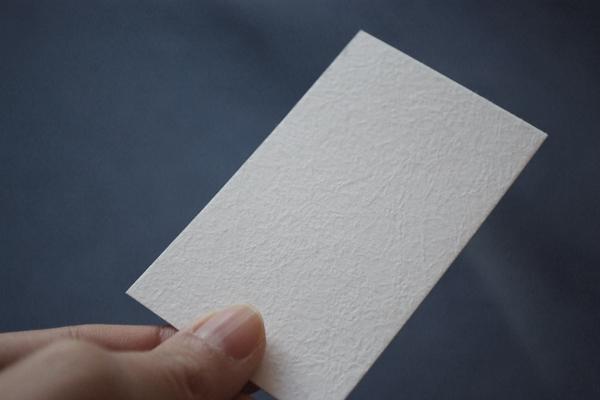 凹凸感のある越前和紙